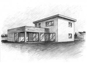 Dům na míru - Skica
